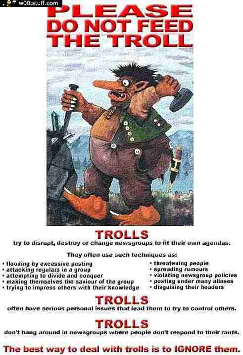 Please do not feed the troll