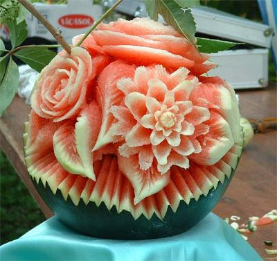 Amazing watermelon carving