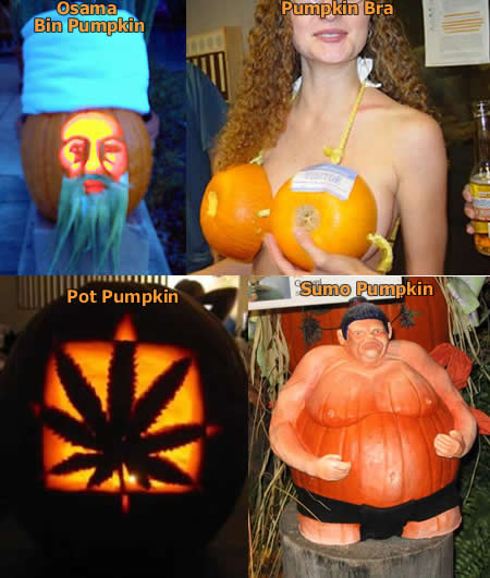 Sexy pumpkin carvings