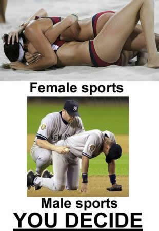 Why male sports are gay