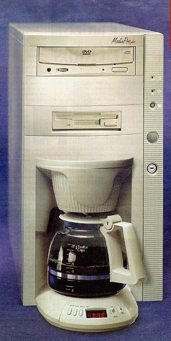 Computer coffee maker