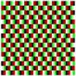 Optical illusions: Moving checkers