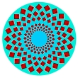 Optical illusions: Rotating rays