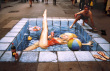 Funny pictures: Sidewalk Swimming