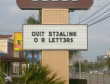 Funny pictures: Stop Stealing Our Letters