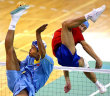 Funny pictures : Foots...volleyball