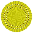 Optical illusions: Spinning circles