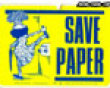 Save paper picture