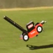 Funny videos : Flying lawnmower