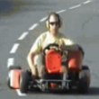 Funny videos : Jet powered go cart