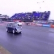 Extreme cool mini at a drag race