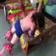 Funny videos : Bed store wrastling video