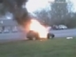 Golf gti in flames