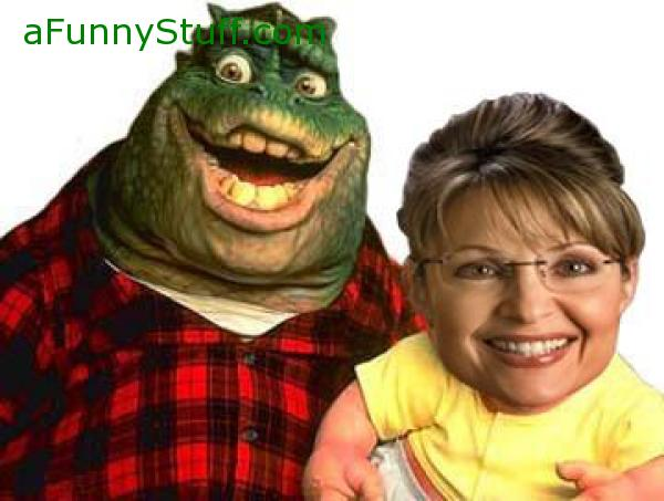 Funny pictures : The Dino Ticket! Palin and Mccain