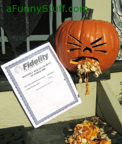 Funny pictures : 401k Puking Pumpkin