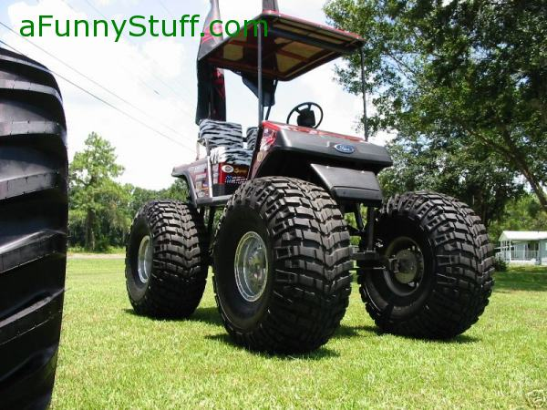 Funny pictures : Huge Monster Golf Cart