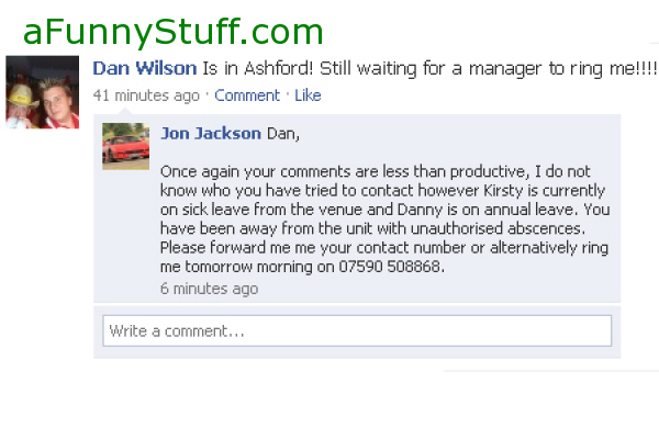 Funny pictures : Facebook - Never Add Your Managers!