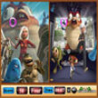 Photo puzzles : Monsters vs Aliens Similarities