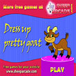 Free games : Dress up pretty goat