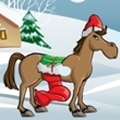 Action games : Christmas Horse-1
