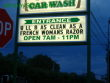 Funny pictures: Car Wash billboard!